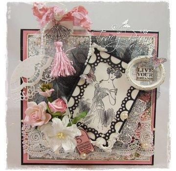 Marianne Design Stamped motif, Victorian Vintage. Back in stock!
