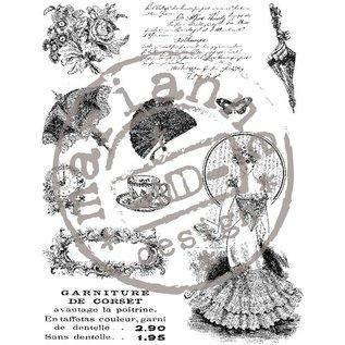 Marianne Design Transparante stempel, Victoriaanse Vintage, weer op voorraad!