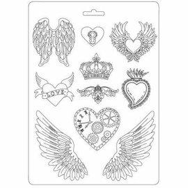Stamperia Forme: vinger, hjerter og krone