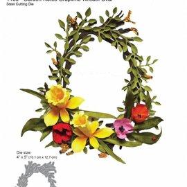 Elisabeth Craft Dies , By Lene, Lawn Fawn Snijmallen, ovaal krans