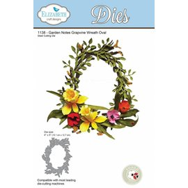 Elisabeth Craft Dies , By Lene, Lawn Fawn cutting dies, wreath oval