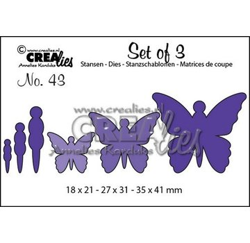 Crealies und CraftEmotions cutting dies, 3 Butterflies