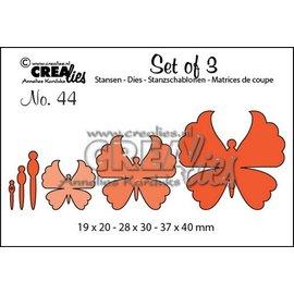 Crealies und CraftEmotions Cutting dies,  3 sommerfugle