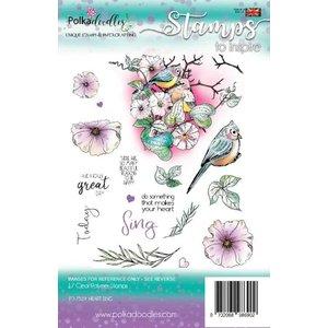 Polkadoodles  Stamp motifs: Polkadoodles Heart Sing