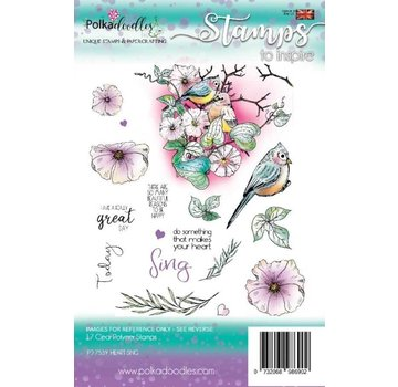 Polkadoodles  Motivi del francobollo: Polkadoodles Heart Sing