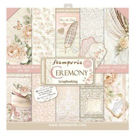 "Stamperia Card and scrapbook paper block, size 30.5 x 30.5 cm, ""Ceremony"""