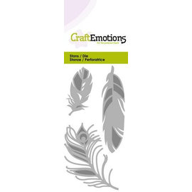 Craftemotions cutting dies, 3 feathers