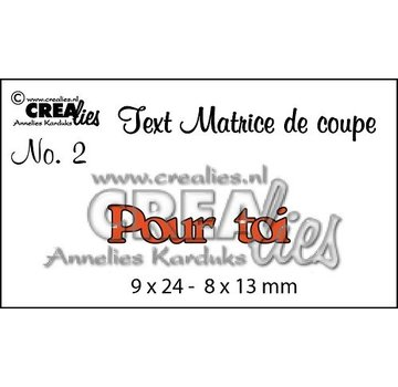 "Crealies und CraftEmotions cutting dies,  French text ""Pour toi"""
