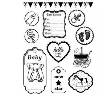 Stamperia Motif estampé, caoutchouc: bébé
