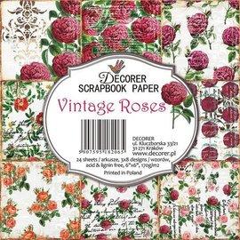 decorer Decorer Vintage Roses 6x6 pollici Confezione di carta