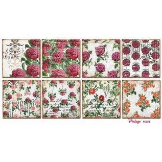 decorer Karten und Scrapbook Papierblock, 20 x 20 cm, Vintage Roses
