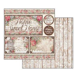 "Stamperia und Florella Card and scrapbook paper block, size 30,5 x 30,5 cm, ""Roses & Laces"""