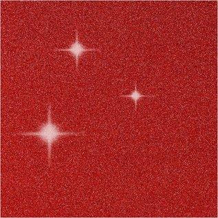 KARTEN und Zubehör / Cards 4 Karten und 4 Kuverts, Kartengröße 10,5x15 cm, Umschlaggröße 11,5x16,5 cm, rot, Glitter