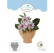 Elisabeth Craft Dies , By Lene, Lawn Fawn Taglio muore, vasi da fiori