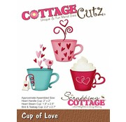 "Cottage Cutz Stanzschablonen, "" Cup of Love"" -LETZTE"