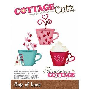 """Cottage Cutz Stanzschablonen, """" Cup of Love"""" -LETZTE"""