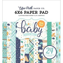 Carta Bella / Echo Park / Classica Kort og Scrapbog Papirblok, Echo Park, Hej Baby Boy Collection