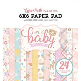 Carta Bella / Echo Park / Classica Blocco carta e scrapbook, Echo Park, Hello Baby Girl Collection