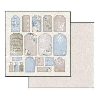 Stamperia und Florella Kaarten en plakboekblok, 30,5 x 30,5 cm