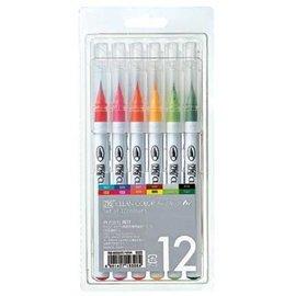 FARBE / MEDIA FLUID / MIXED MEDIA Conjunto ZIG de plumas de pincel real en 12 colores: ¡SOLO 1 juego en stock! (Con video de inspiración con estos bolígrafos).
