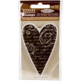 Stamperia Stamperia Naturstempel Herz