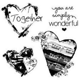 Stamperia und Florella Stamperia naturstempel hjerte