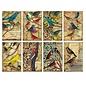 decorer Karten und Scrapbooking Papierblock, Vögel,  7 x 10,8 cm, 150 g / m²