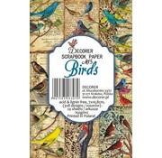 decorer Kort og scrapbogpapirblok, fugle, 7 x 10,8 cm, 150 gsm