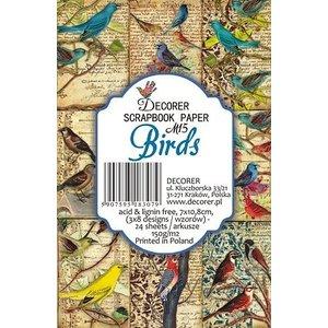 decorer Decorer Birds Paper Pack, 7x10.8cm, 150gsm