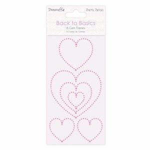Docrafts / Papermania / Urban Embellishments / Verzierungen: hübsche selbstklebende Edelsteinchen Herzen