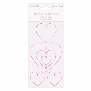 Docrafts / Papermania / Urban Dovecraft Back to Basics Pretty hearts Gem Frames