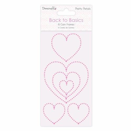 Docrafts / Papermania / Urban Embellishments / Embellishments: mooie, zelfklevende harten van edelstenen