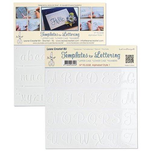 Leane Creatief - Lea'bilities und By Lene Stencil Lettering 1: store, små bogstaver og tal