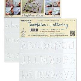 Leane Creatief - Lea'bilities und By Lene Stencil Lettering 2: grote, kleine letters en cijfers