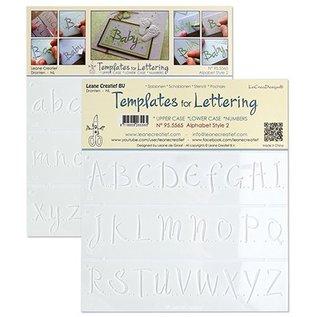 Leane Creatief - Lea'bilities und By Lene Stencil Lettering 2: grandes, petites lettres et chiffres