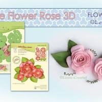 3D Rose Snijmallen + Stempel van Leane Creatief + flower foam