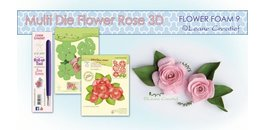 3D Rose cutting Dies + Stamp by Leane Creatief + flower foam