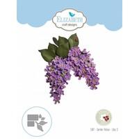 Matrices de découpe, Notes de jardin - fleur lilas