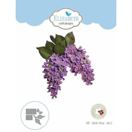 Elisabeth Craft Dies , By Lene, Lawn Fawn cutting dies, Garden Notes - Lilac Flower