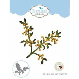 Elisabeth Craft Dies , By Lene, Lawn Fawn Stanzschablonen, 3D Zweig mit Blätter Berry Branch