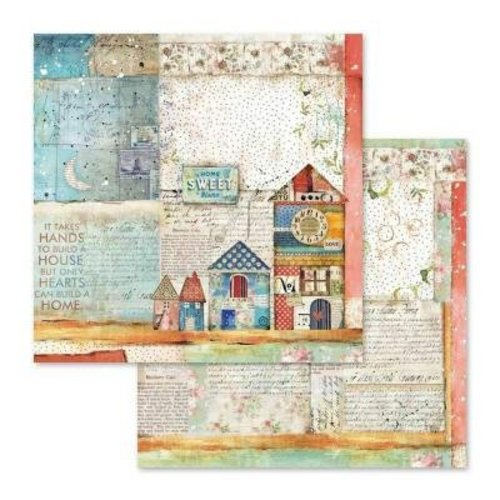 Stamperia Card and scrapbook paper block, size 30.5 x 30.5 cm, 10 double-sided printed paper, 190 gr.