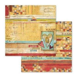 Stamperia Bloc de papier pour cartes et scrapbook, format 30,5 x 30,5 cm, 10 papiers imprimés recto verso, 190 gr.