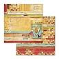 Stamperia und Florella Kaart- en plakboekblok, formaat 30,5 x 30,5 cm, 10 dubbelzijdig bedrukt papier, 190 gr.