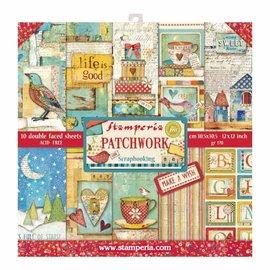 Stamperia Karten- und Scrapbook Papierblock, Format 30,5 x 30,5 cm, 10 doppelseitiges bedrucktes Papier, 190 gr.