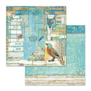 Stamperia und Florella Card and scrapbook paper block, size 30.5 x 30.5 cm, 10 double-sided printed paper, 190 gr.