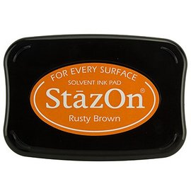 FARBE / STEMPELKISSEN StaZon stamp ink: Rusty Brown (Stazon ink is colorfast and water resistant)