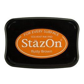 FARBE / STEMPELKISSEN StaZon-stemplet blekk: Rusty Brown (Stazon blekk er fargerik og vanntett)