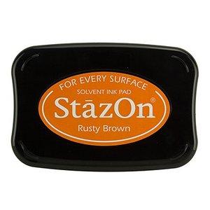 FARBE / STEMPELKISSEN StaZon-frimærkeblæk: Rusty Brown (Stazon-blæk er farvestof og vandtæt)