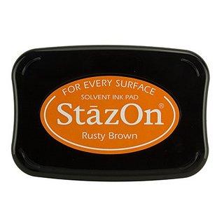 FARBE / STEMPELKISSEN StaZon Stamp ink: Rusty Brown (l'encre Stazon résiste à la lumière et résiste à l'eau)