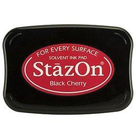 FARBE / STEMPELKISSEN StaZon Stempeltinte: Black Cherry (Stazon Tinte  ist farbecht und wasserbeständig)